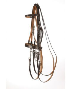 Hunt style Weymouth Bridle with Plain Cavesson - Traditional Range
