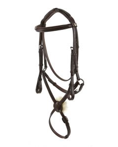 Raised Padded Snaffle With Mexican Grakle Padded Headpiece And Nylon Lined Reins - Wembley Pro