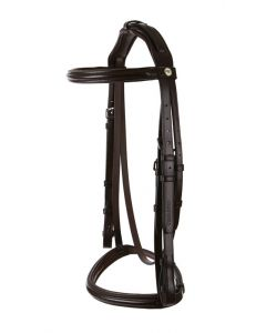 Raised Padded Snaffle With Show Noseband Padded Headpiece And Nylon Lined Reins - Wembley Pro