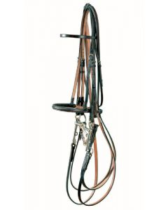 Show Weymouh Bridle with Raised Show Noseband - Traditional Range